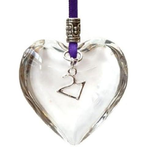 Decorazione da appendere a forma di cuore,