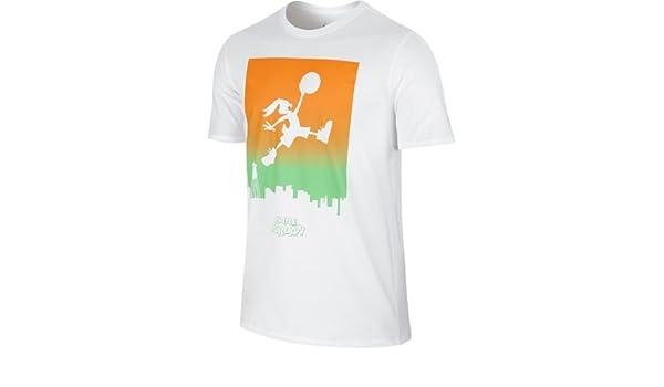 37c82401b42f Jordan Jumpbunny WB Skyline T-Shirt - White  Amazon.co.uk  Kitchen   Home