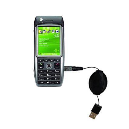 Das einziehbare USB-Lade-Kabel für HTC MTeoR Ausgerüstet Mit Dem Erweiterbarer TipExchange-System