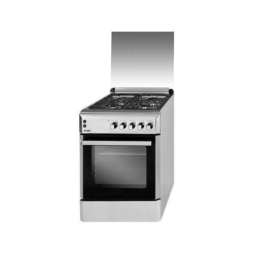 Svan Cocina 4 Fuegos SVK6604GX butano INOX 57 L