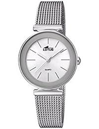 a55c30617992 Lotus Watches Reloj Análogo clásico para Mujer de Cuarzo con Correa en Acero  Inoxidable ...
