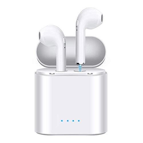 Auriculares inalámbricos Bluetooth Auriculares Estéreo Auriculares Bluetooth Auriculares con micrófono Auriculares Auriculares Mini Auriculares Auriculares deportivos a prueba de sudor con funda de carga Compatible con iPhone