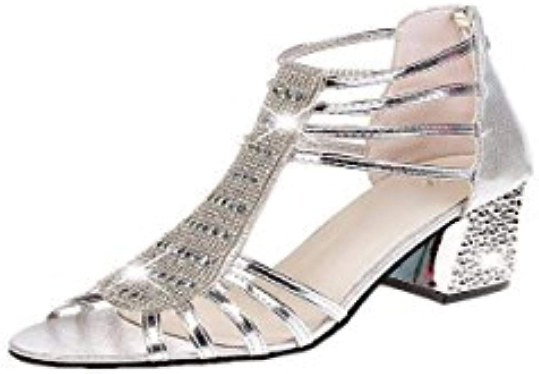 KPHY Damenschuhe/Diamond Schuhe Sandalen Sommer Fische Münder Aufgewölbte Rau und High Heels.