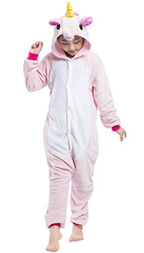 Niños Pijama Animal Kigurumi Animados Cosplay Unicornio Caballo Volador para Niños Unisex