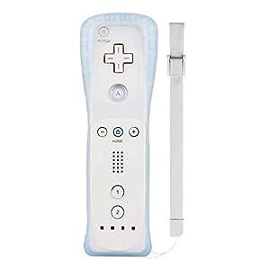 Wetoph Wii Remote Controller NK04 Wireless Fernbedienung mit kostenlosem Silikonhülle und Handschlaufe für Nintendo Wii/Wii U, Keine Motion Plus (Dritteranbieter-Produkt) -Weiß …