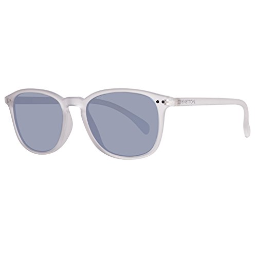 United Colors of Benetton Unisex-Erwachsene BE960S03 Sonnenbrille, Transparent (Crystl), 52