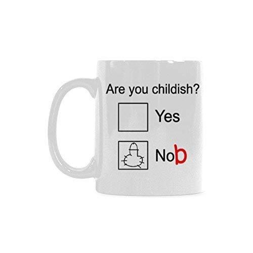 Are You Childish Mug Funny Novelty Mug Ceramic Coffee Mugs Cup, Funny Psychology Psychologist Gifts - 11oz sizes, White