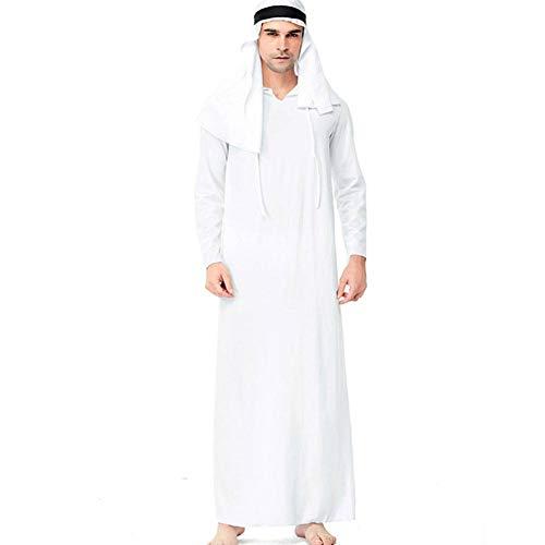 Männliche Prinz Kostüm - AIYA Männliche nahöstliche arabische Kleidung Prinzen COS des Erwachsenen Maskeradekostüms Halloweens