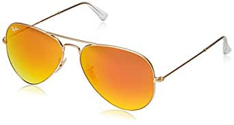 cd12b083f2d Image Unavailable. Image not available for. Colour  Ray-Ban RB3025 Aviator  Sunglasses Matte Gold Orange ...