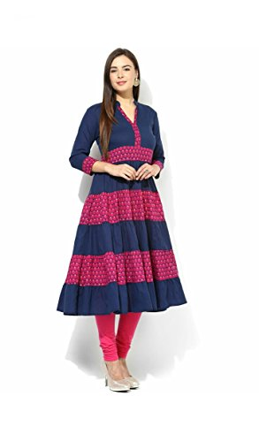 AnjuShree-Choice-Womens-Blue-Cotton-Anarkali-Kurti