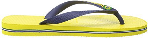 Havaianas Brasil Logo, Infradito Unisex – Adulto Giallo (Citrus Yellow 2197)