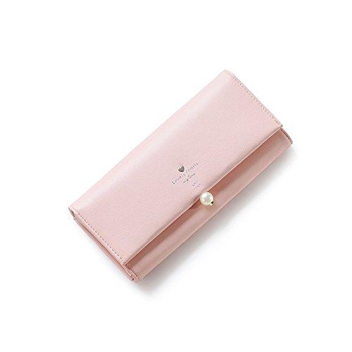 PU Piega Lunga Pelle moda donna Portafoglio borsa Ecopelle Wallet raccoglitore Pocket Portamonete