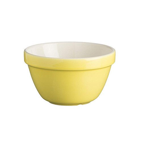 Mason Cash colour Mix S36 Yellow Chip Resistant Earthenware All purpose Pudding Basin Bowl 16cm Diameter