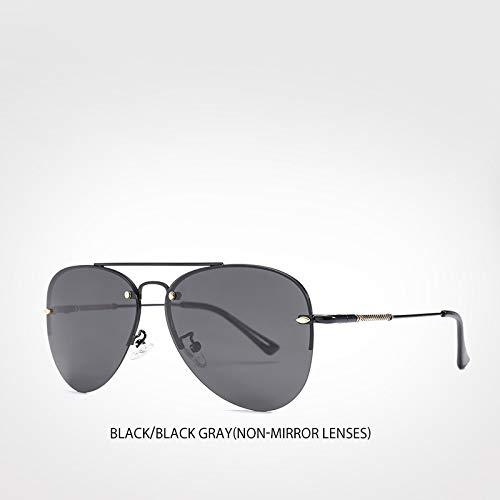 LXXSSRA Sonnenbrillen New Polarized Sonnenbrillen Semi Rimless Herren Sonnenbrillen Italian Brand Coating Lens Mirror Sonnenbrille Blue Mirror Lens
