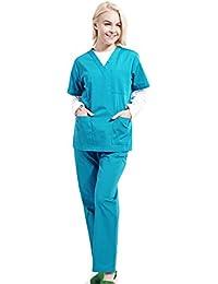 Free Fisher Camisa y Pantalón uniforme médico Unisex Mujeres Ropa para Enfermería