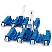 Carro limpiafondos para piscina flexible 8 ruedas conexión 1 1/2