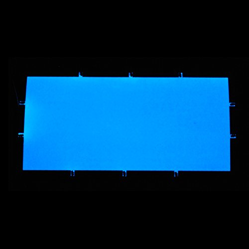 Preisvergleich Produktbild EL-Folie / Leuchtfolie / Plasmafolie Farbe: BLAU Größe: 200x100mm inkl. Zubehör