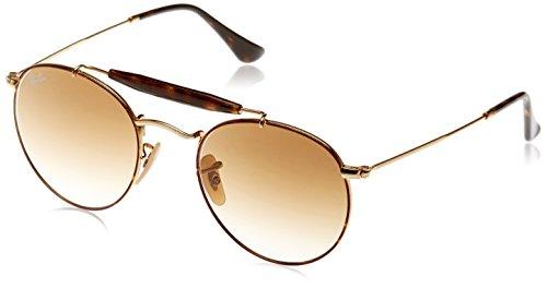 Ray-Ban Rayban Unisex-Erwachsene Sonnenbrille 3747, Gold/Havana/Cleargradientbrown, 50