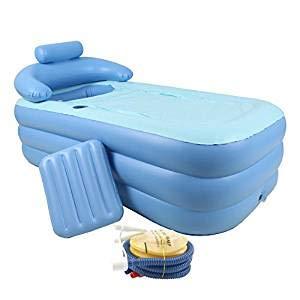 CO-Z Aufblasbare Badewanne Faltbar klappbar beweglich Inflatable Bathtub Nackenkissen Relax Pool mit...