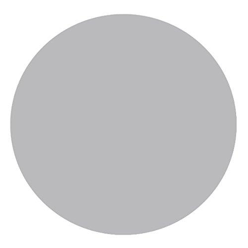 DecoHomeTextil Lacktischdecke Tischdecke Wachstuch Wachstischdecke RUND OVAL Größe & Farbe wählbar Silber 160 cm Rund abwaschbar Lebensmittelecht