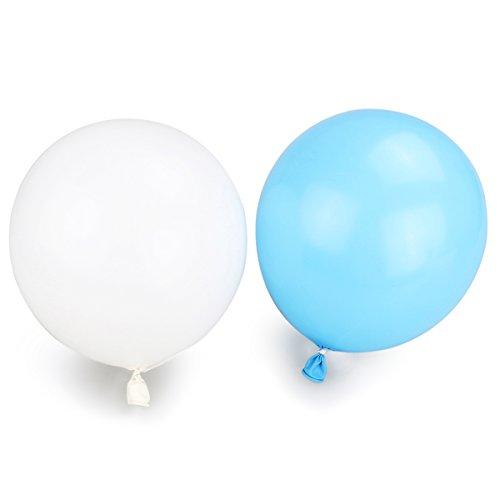 Pixnor Metallic Ballons jeweils 25 x weiß und blau Hochzeit Party Dekoration Ballons - 50 Stück