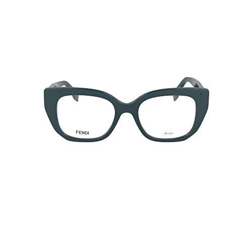 Fendi ff 0274 zi9 48, occhiali da sole donna, turchese (trsteal teal)
