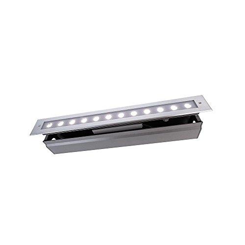 Lampe de sol à encastrer kapegoled Line V, 220–240 V, 16 W, Argent Clair/Transparent, Blanc Froid Classe d'efficacité énergétique : A