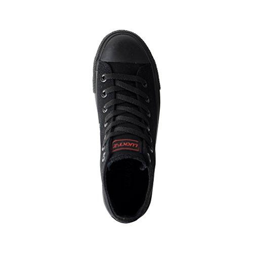 Elara Unisex Sneaker | Sport Scarpe Per Uomo Donna | High Top Sneakers Tessile Scarpe 36–47 All-Black
