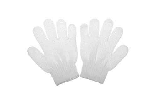 Rethinkso 1 Paar Hautpflege Bad Dusche Peeling-Handschuh Handschuh Fenders sauber und solide Handschuh (white)
