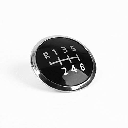 Preisvergleich Produktbild leoboone 6-Gang Schaltknauf Stock-Abdeckung Emblem Badge Cap Trim Cap Cover Car-Styling dekorative Kappe für VW Transporter T5 / T5.1
