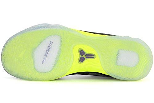 Nike Uomo Zoom Kobe Venomenon 5 scarpe da basket Nero / Argento / Porpora / Verde (Black / Mtllc Slvr-Crt Prpl-Vlt)