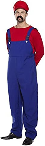 NEW MENS COSTUME FANCY PARTY DRESS ADULT OUTFIT HALLOWEEN NOVELTY ONE SIZE[Super Mario,One Size Fits