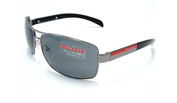 152c5865b6 PRADA SPS 54I Sunglasses SPS54I Gunmetal 5AV-5Z1 Shades  Amazon.co.uk   Clothing