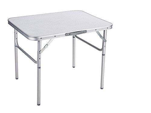 Eifa Camping-Tisch Klapptisch 75 x 55 x 60 / 25 cm / verstellbar klappbar mit Griff tragbar verstaubar/ Falttisch Reisetisch - Klapptisch Griff