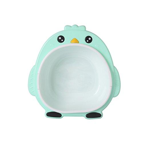 YeahiBaby Baby Waschschüsseln Kunststoff Waschbecken Pinguin Form für Kleinkinder (Grün)