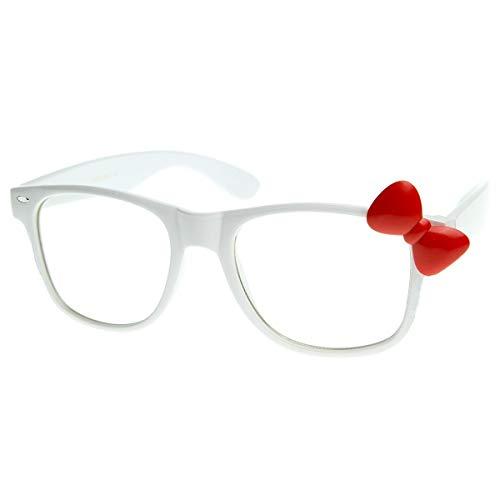 ralen stil HELLO KITTY - optischen rahmen FRAU cool fashion EXTRAVAGANTE - WEIß/rot ()