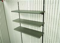 Lifetime 3-Fach-Regal Gerätehäuser (3-Fach-Regal); Kunststoffregal u. Regalleiste