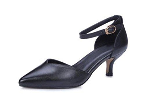 Fein mit dem Wort cingulären wies Sandalen weibliche Sandalen Sommerschuhe Black
