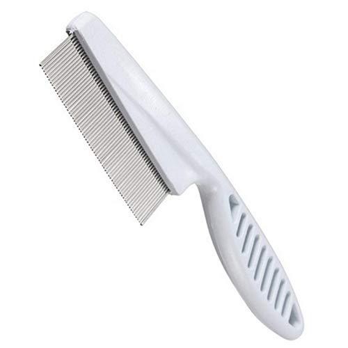 Xiton Dicht Spaced Zähne Haare kämmen Pet Flohkamm Haarpflege Bürste für Hunde, Katzen, Haustiere Grooming Tool Flöhe, Milben, Zecken & Schuppe Flakes-1PC Weiß entfernen