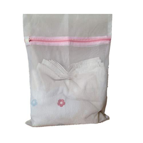 Winkey Waschen Tasche Mesh, Unterwäsche Hilfe BH Socken Dessous Waschmaschine Mesh Tasche, Nylon, weiß, S (Trainer-bh)