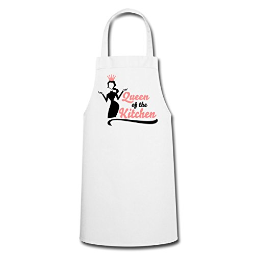 Spreadshirt Queen Of The Kitchen Königin Der Küche Kochschürze, Weiß Küche Queen