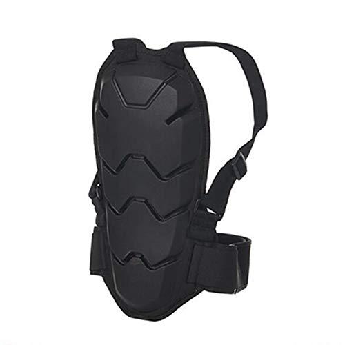 TZTED Motorrad zurück Wirbelsäulenschutz Komfortgewebe integrierter Nierengurt Motorrad Damen Herren Rückenprotektor zum Umschnallen Rollschuhlaufen,Black,M(170~176cm)