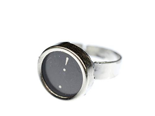 Miniblings Ring Taste ! Schreibmaschinentaste Vintage Taste Upcycling schwarz