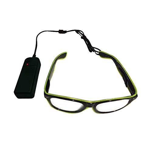 Vaugan Fashion LED EL Wire Brille Leuchtet Neon Light Up Glow Eyewear Shades Sonnenbrille Kostüm Party Activing Requisiten Geschenke, - Zwei Wilden Und Verrückten Kostüm