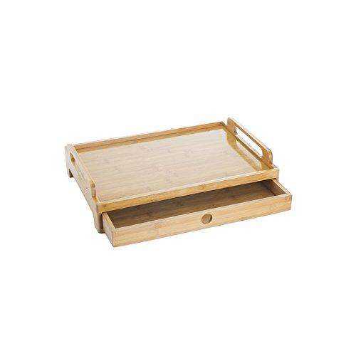 Tablett mit Schublade für ein Frühstück im Bett oder für Fernsehen auf dem Sofa... Tablett aus...