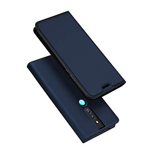 zukabmw Oppo F11 Pro Brieftasche Hülle, Oppo F11 Pro Hülle, Prämie Leder Zipper Brieftasche Multifunctional Dauerhaft Removable Kartenschlitz Pocket Pouch Flip Schutz Hülle zum Oppo F11 Pro