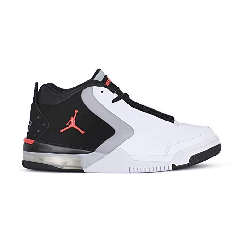 Jordan Big Fund, Chaussures de Fitness Homme, Multicolore (White/Infrared 23/Black/Lt Smoke Grey 000), 40.5 EU