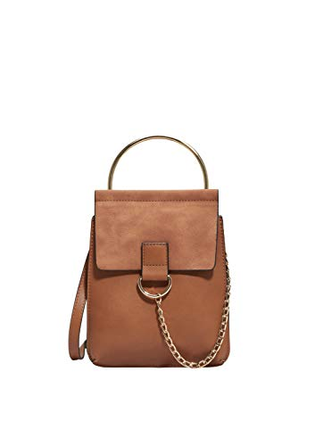 s.Oliver RED LABEL Damen City Bag mit Ketten-Detail cognac 1 -