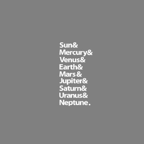 Planets - Stofftasche / Beutel Blau