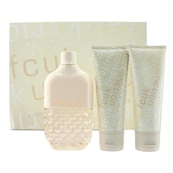 French Connection FCUK Friction Gift Set for Women (Eau De Parfum Spray, Stimulating Body Scrub,...